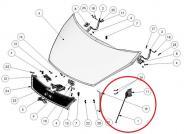Motorhaubenzug für Ligier X-Too-Serie, IXO