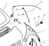 Motorhaubenzug für Microcar MGo, M8