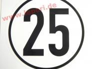 25 km/h-Schild - Aufkleber