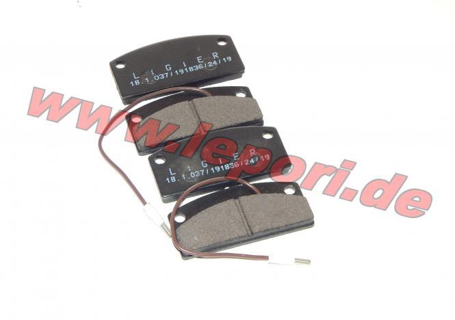 Bremsklötze vorne für Microcar MC1/MC2, Virgo Original